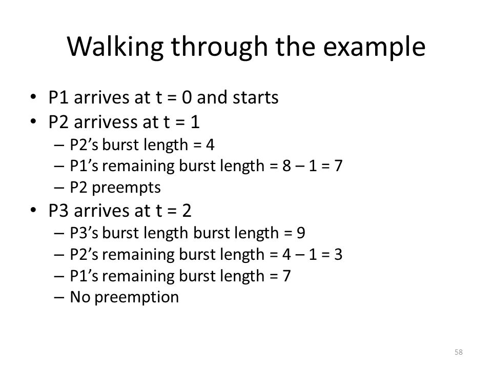 Walking through the example