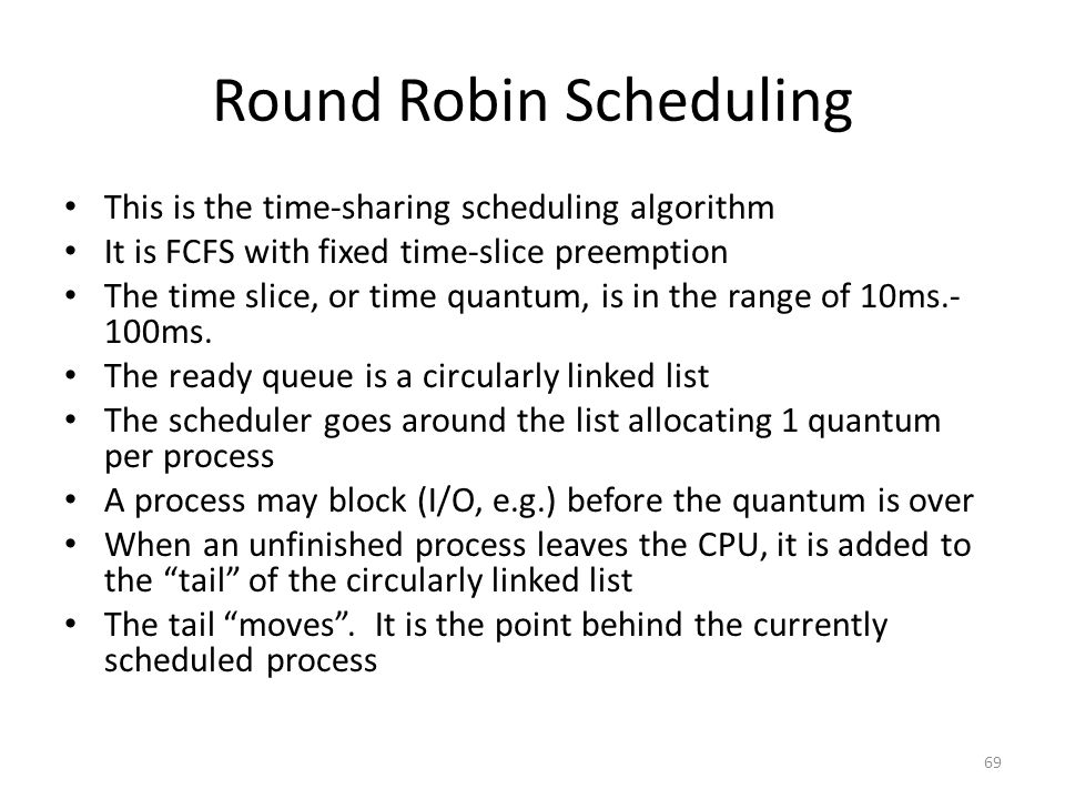 Round Robin Scheduling
