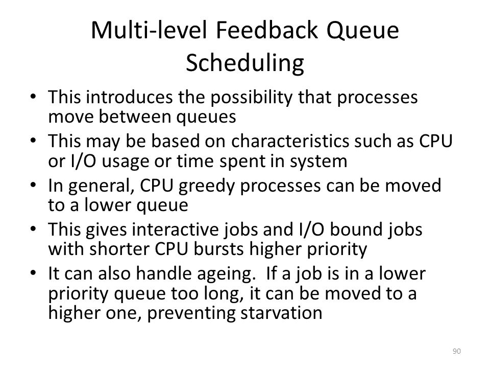 Multi-level Feedback Queue Scheduling