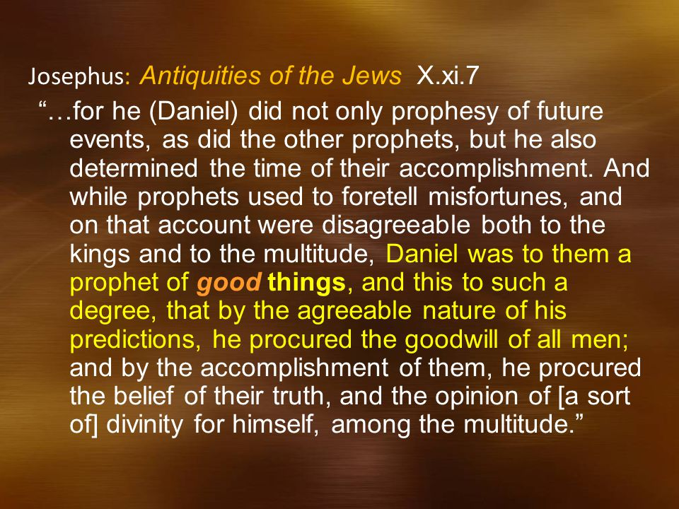 Josephus: Antiquities of the Jews X.xi.7
