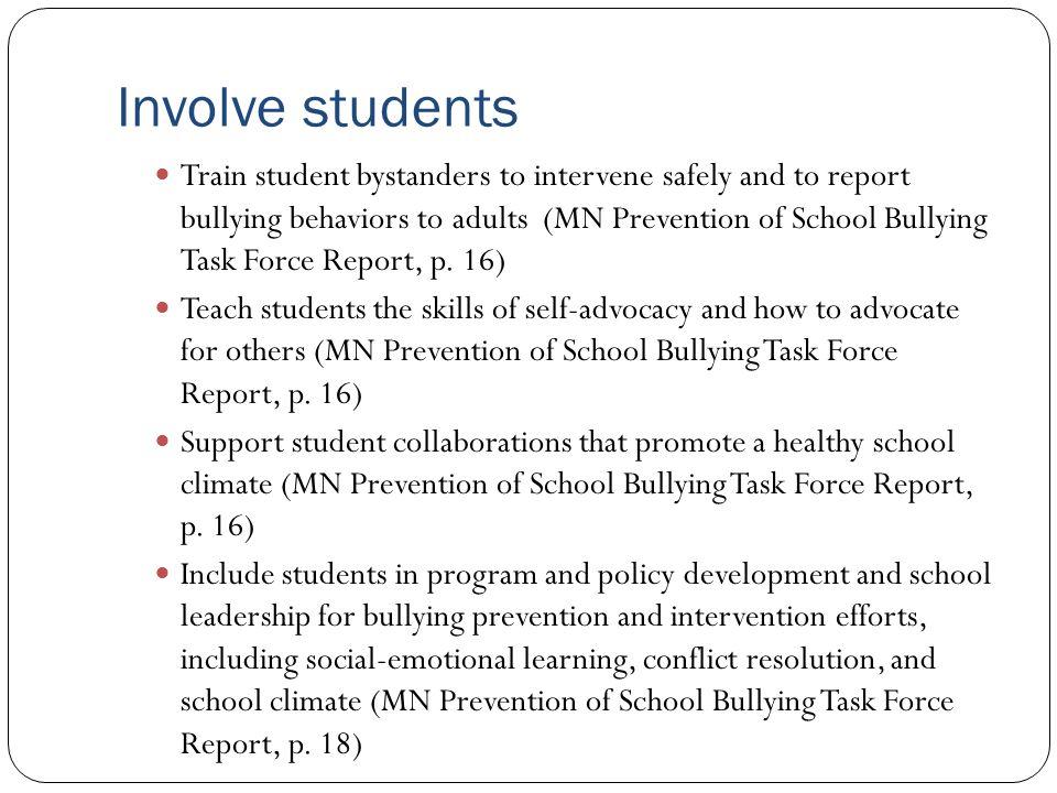 Involve students