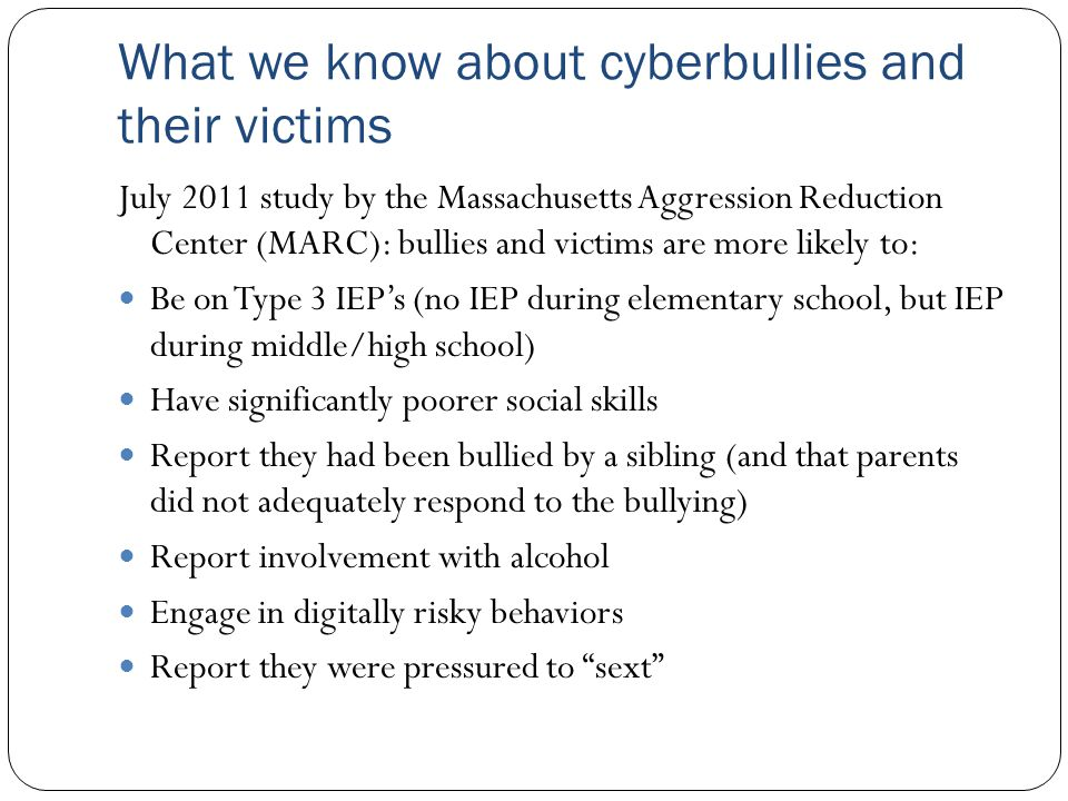 What we know about cyberbullies and their victims