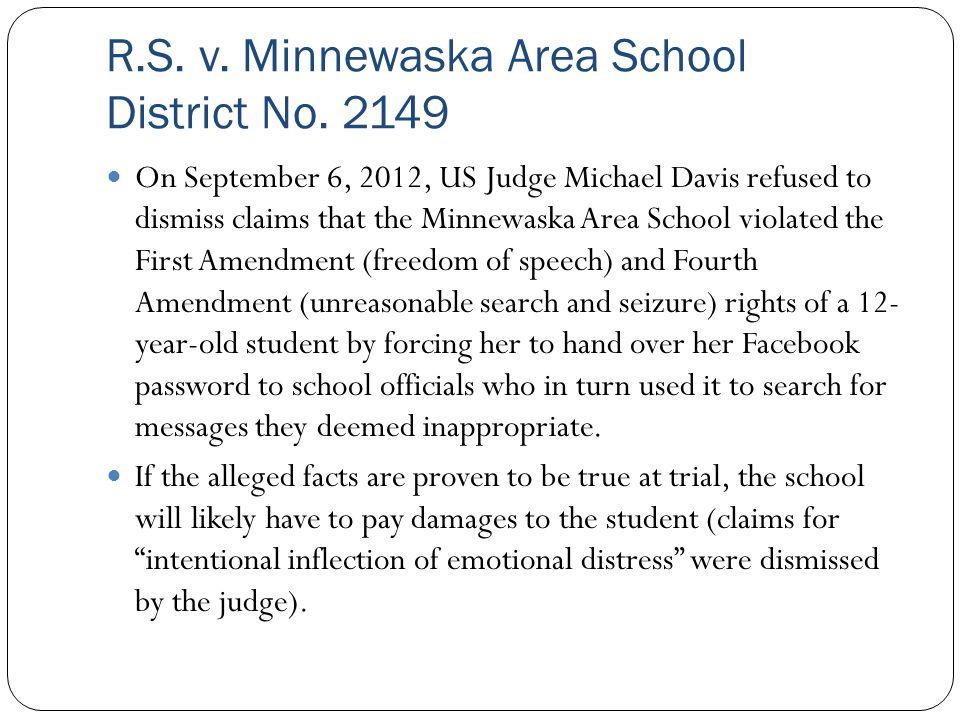 R.S. v. Minnewaska Area School District No. 2149
