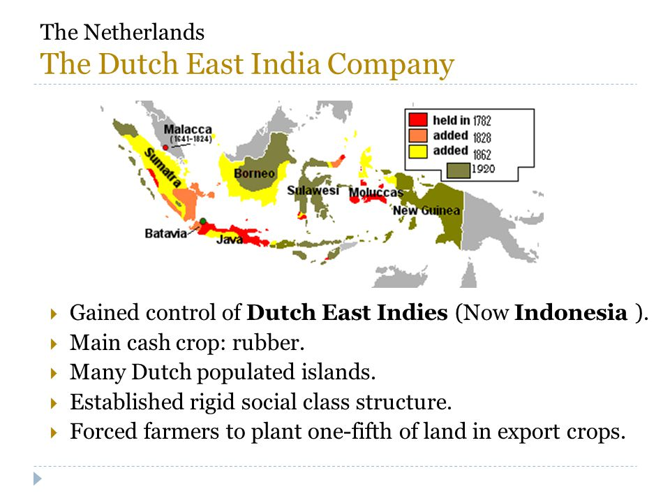 The Netherlands The Dutch East India Company