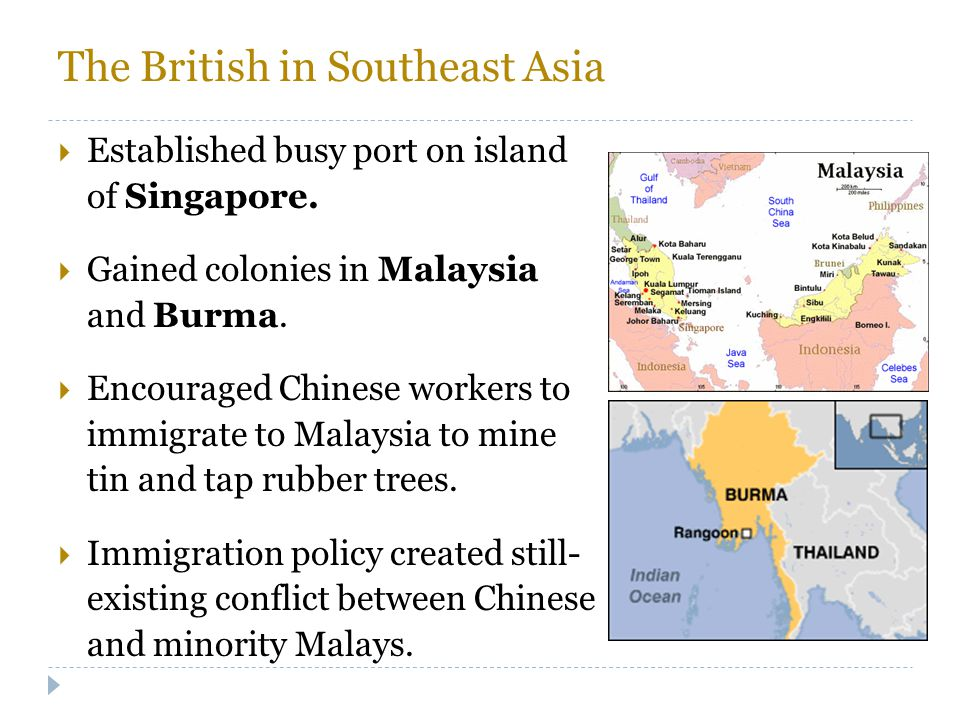 The British in Southeast Asia