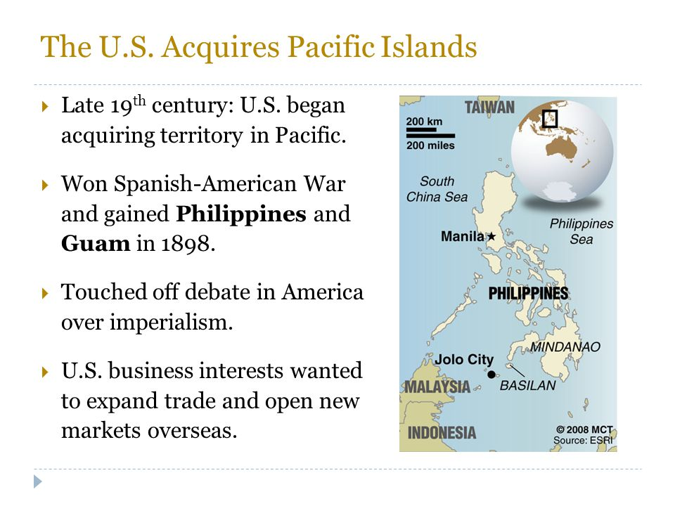 The U.S. Acquires Pacific Islands