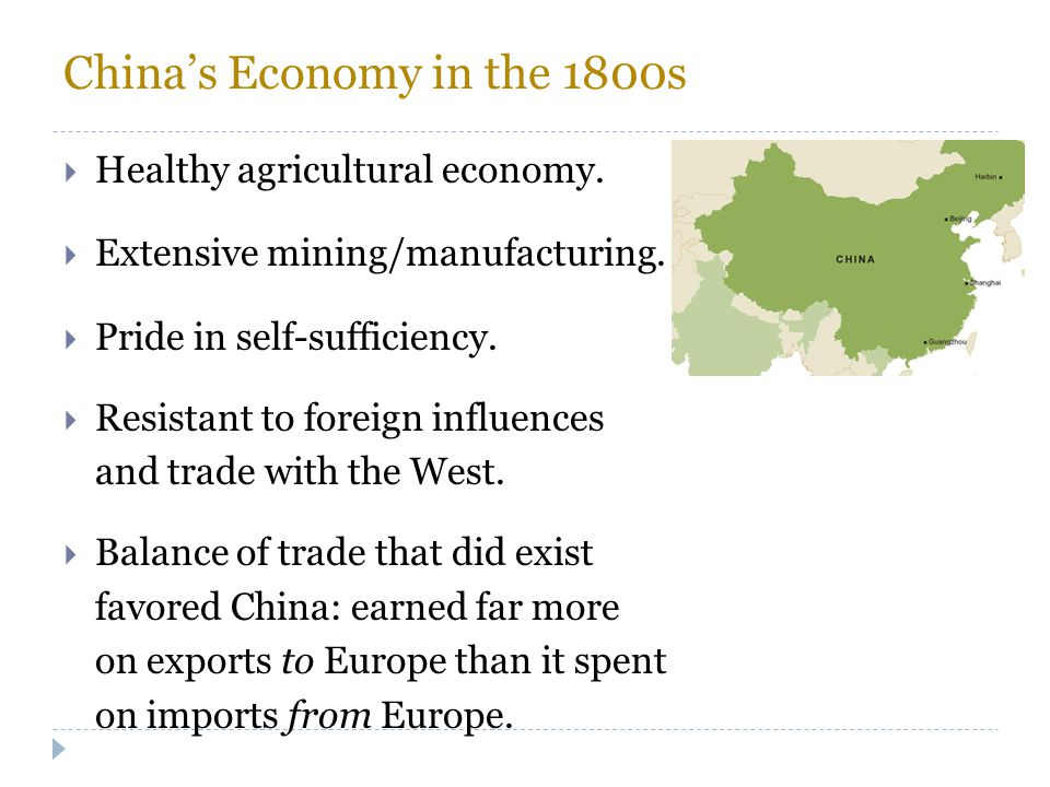 China's Economy in the 1800s
