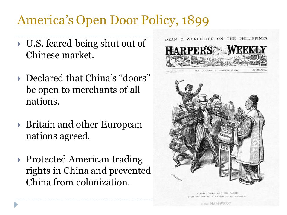 America's Open Door Policy, 1899