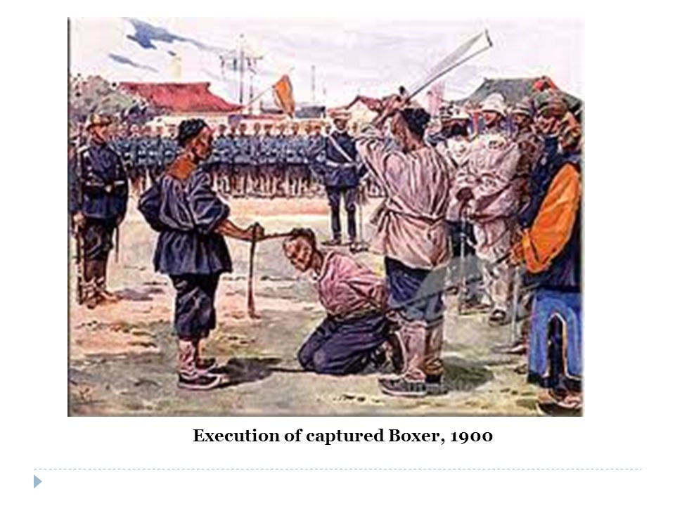 Execution of captured Boxer, 1900