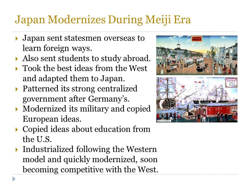 Japan Modernizes During Meiji Era