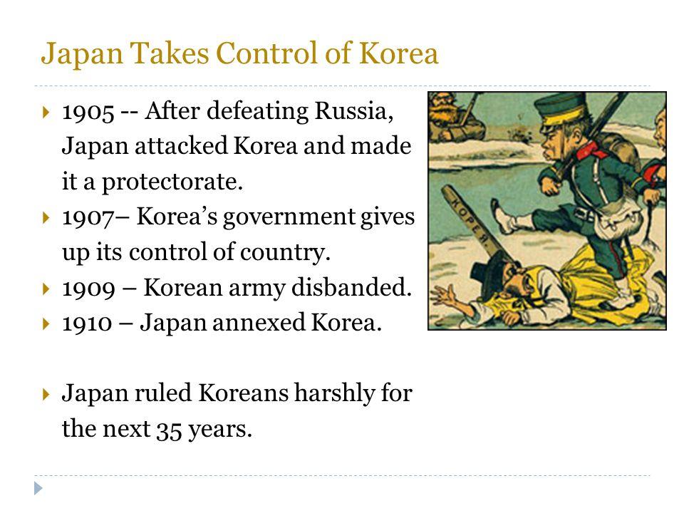 Japan Takes Control of Korea