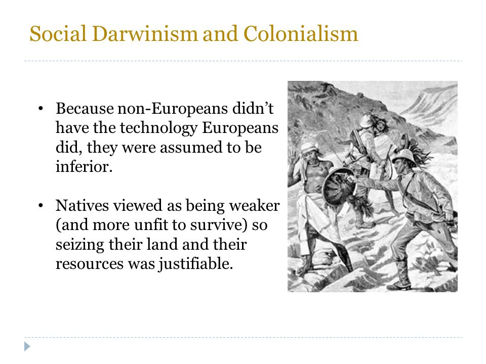 Social Darwinism and Colonialism