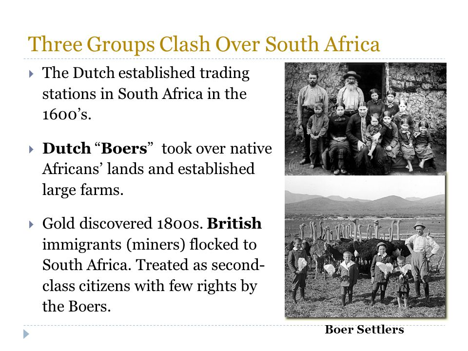 Three Groups Clash Over South Africa
