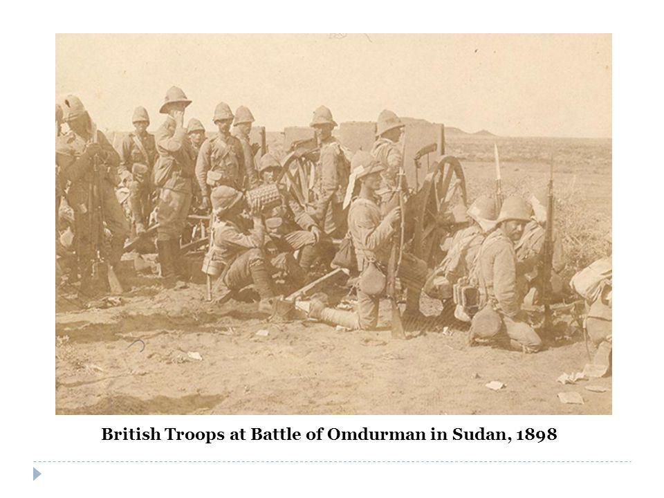 British Troops at Battle of Omdurman in Sudan, 1898