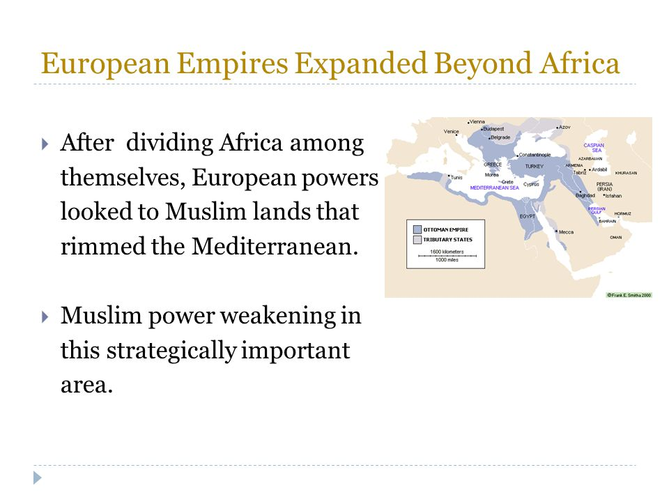 European Empires Expanded Beyond Africa