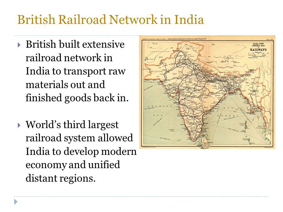 British Railroad Network in India