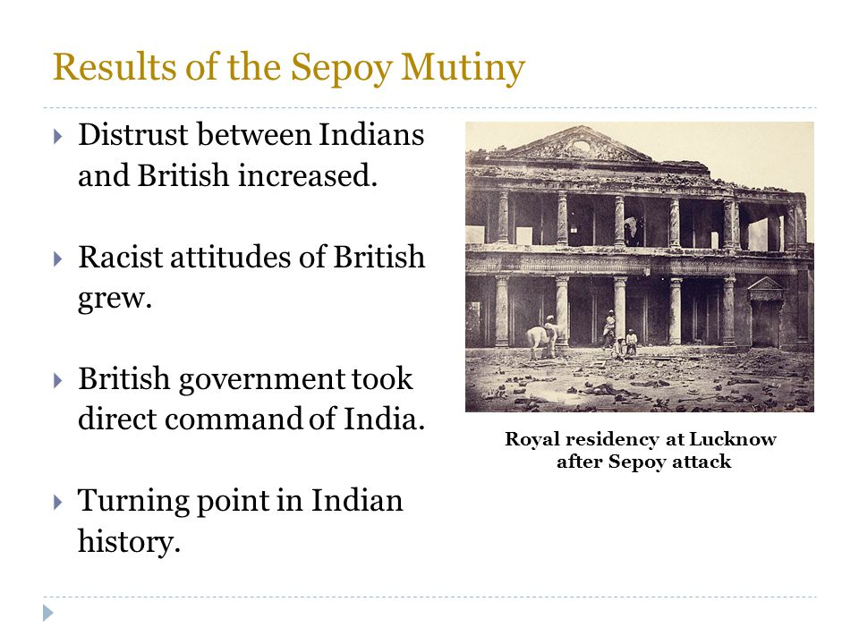 Results of the Sepoy Mutiny