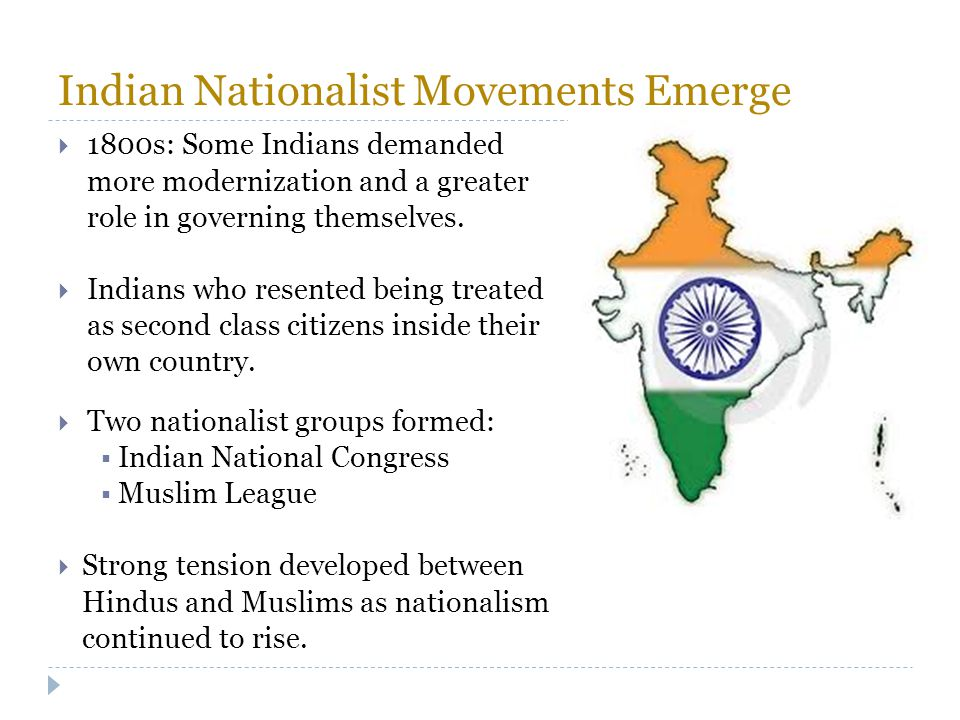 Indian Nationalist Movements Emerge