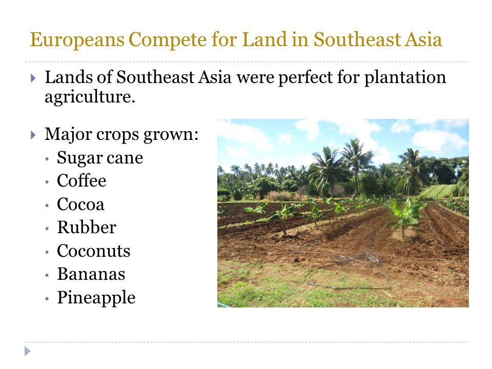 Europeans Compete for Land in Southeast Asia