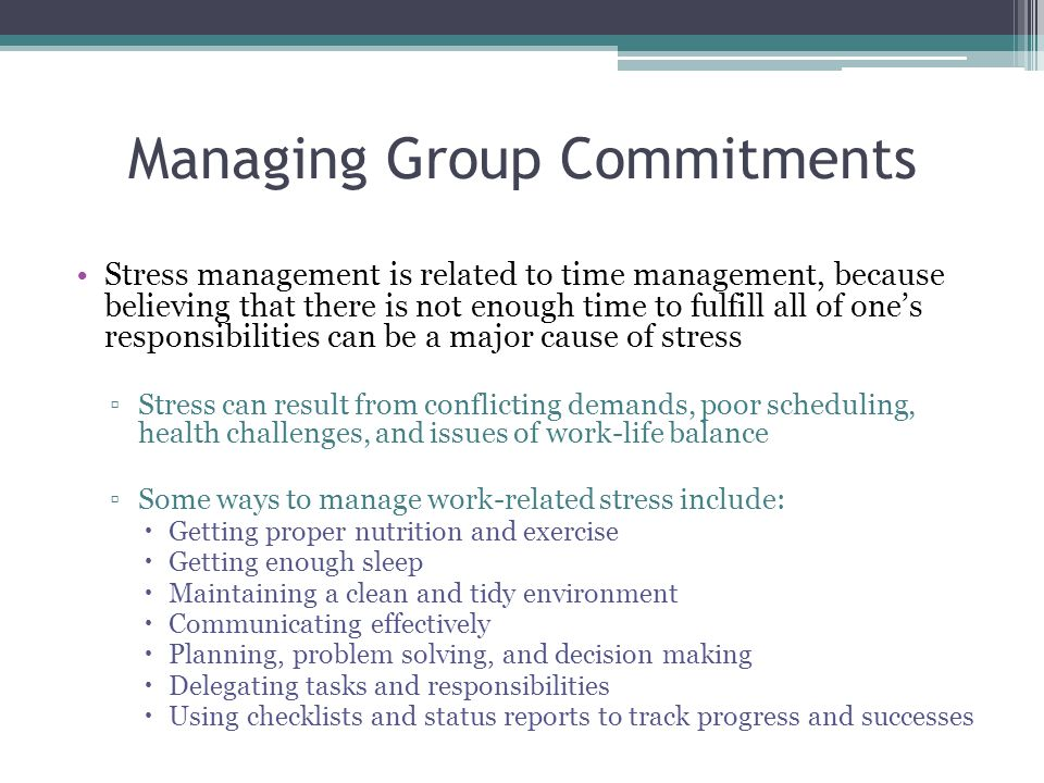 Managing Group Commitments