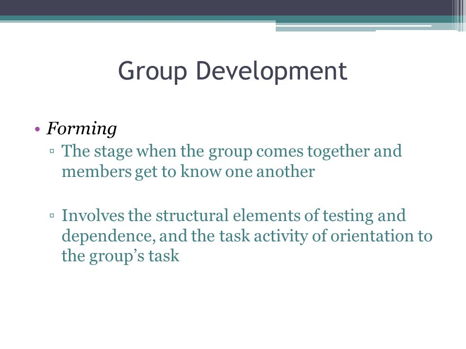 Group Development Forming