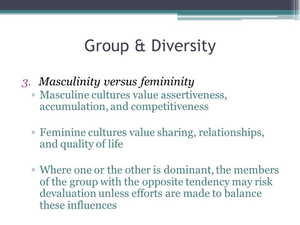 Group & Diversity Masculinity versus femininity