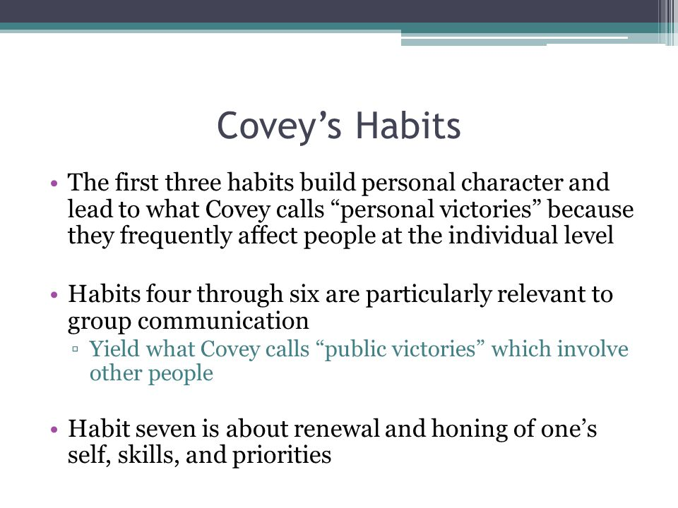 Covey's Habits