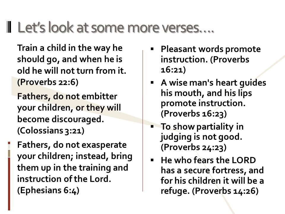 Let's look at some more verses….