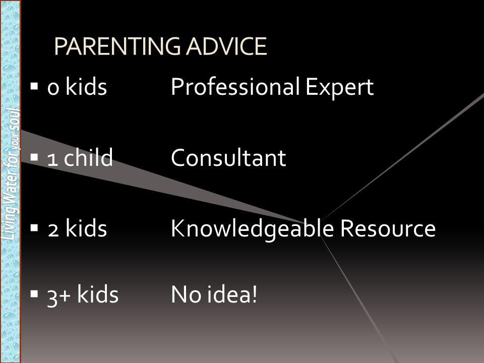 PARENTING ADVICE 0 kids Professional Expert 1 child Consultant