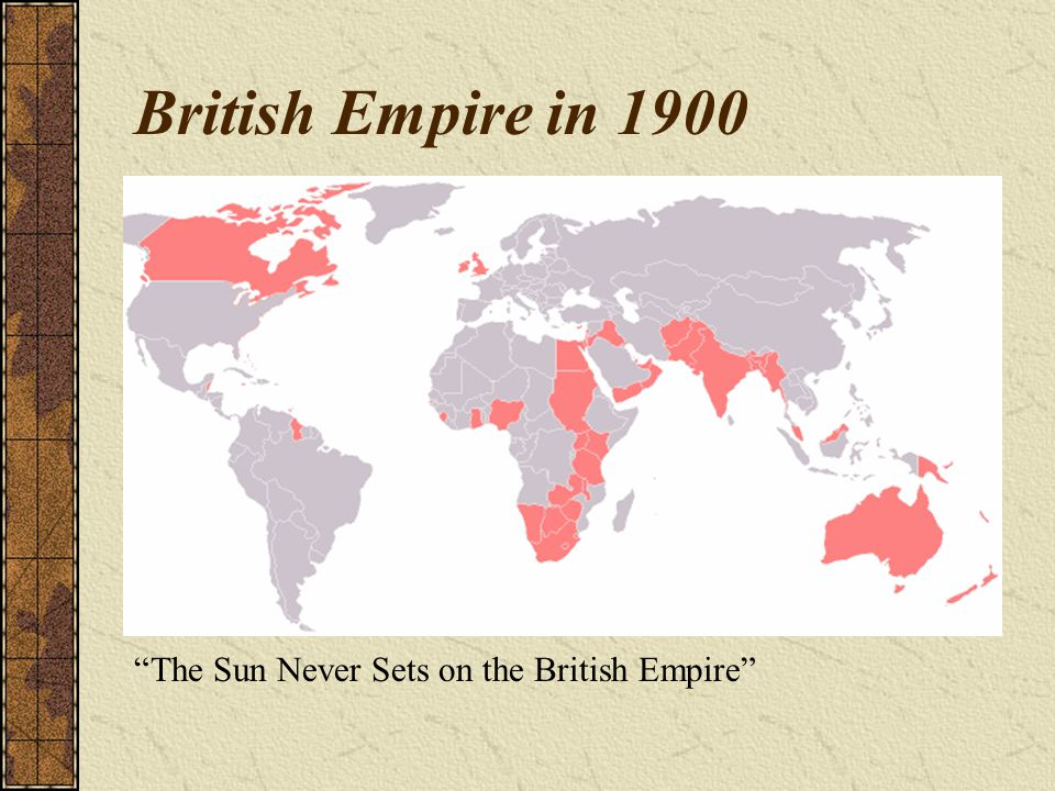 British Empire in 1900 The Sun Never Sets on the British Empire