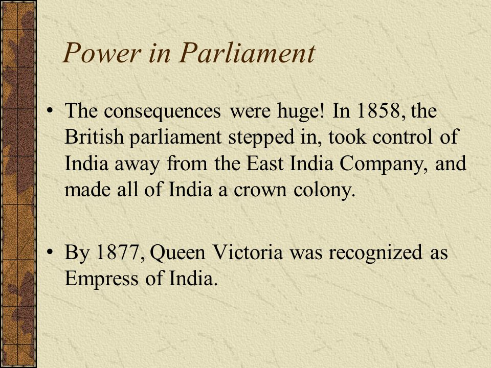 Power in Parliament