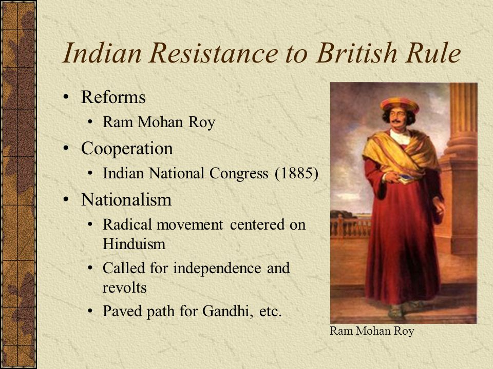 Indian Resistance to British Rule