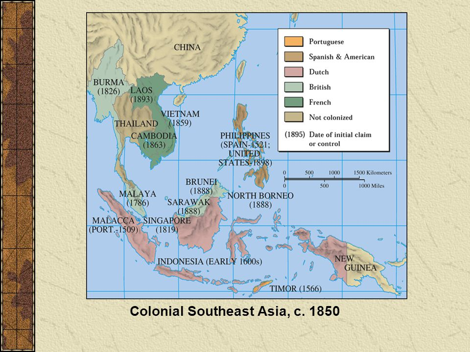 Colonial Southeast Asia, c. 1850