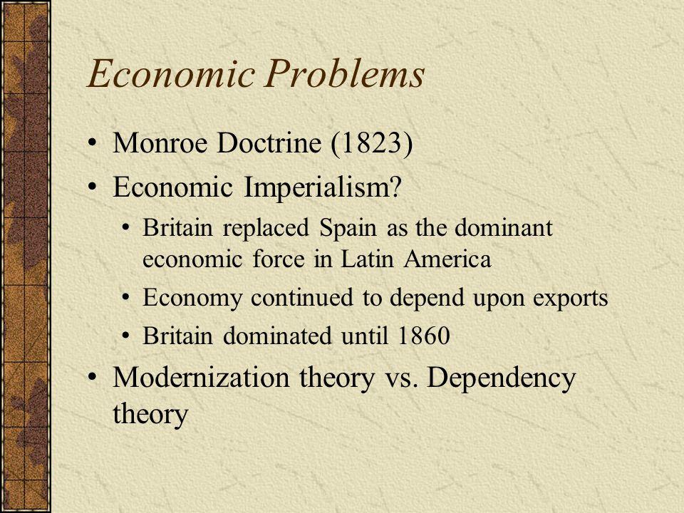 Economic Problems Monroe Doctrine (1823) Economic Imperialism