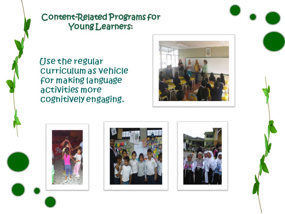 Content-Related Programs for Young Learners: