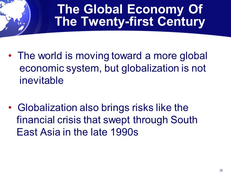 The Global Economy Of The Twenty-first Century