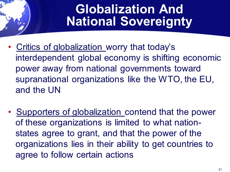Globalization And National Sovereignty