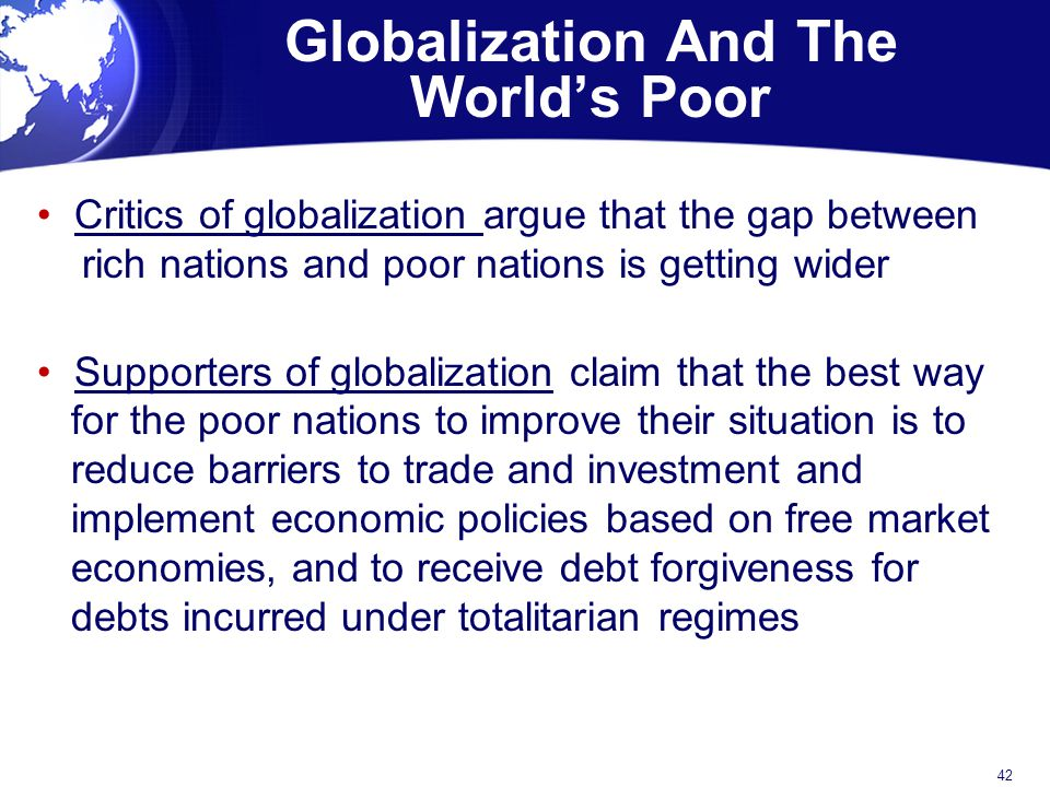 Globalization And The World's Poor