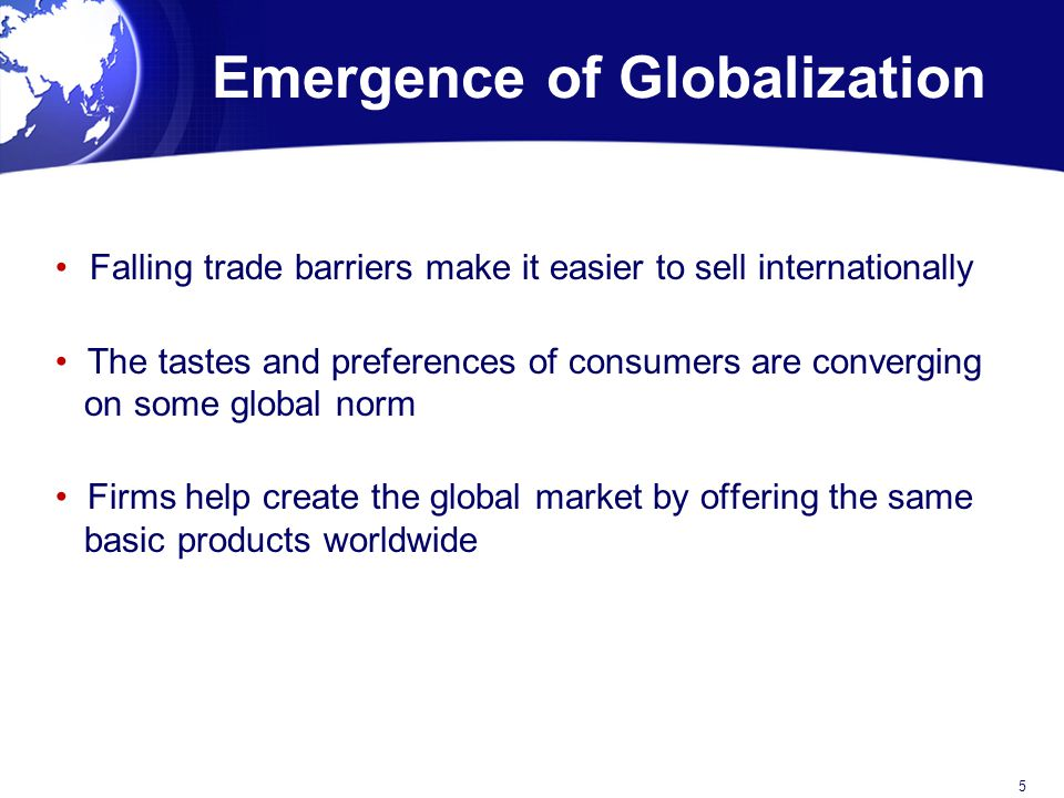 Emergence of Globalization