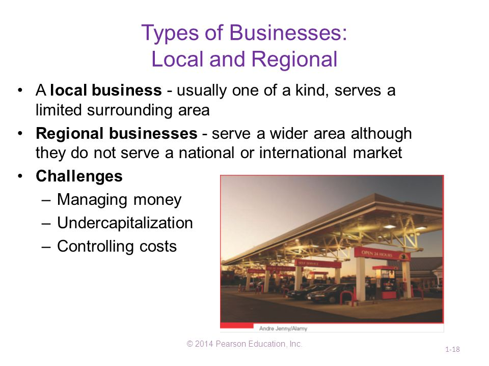 Types of Businesses: Local and Regional