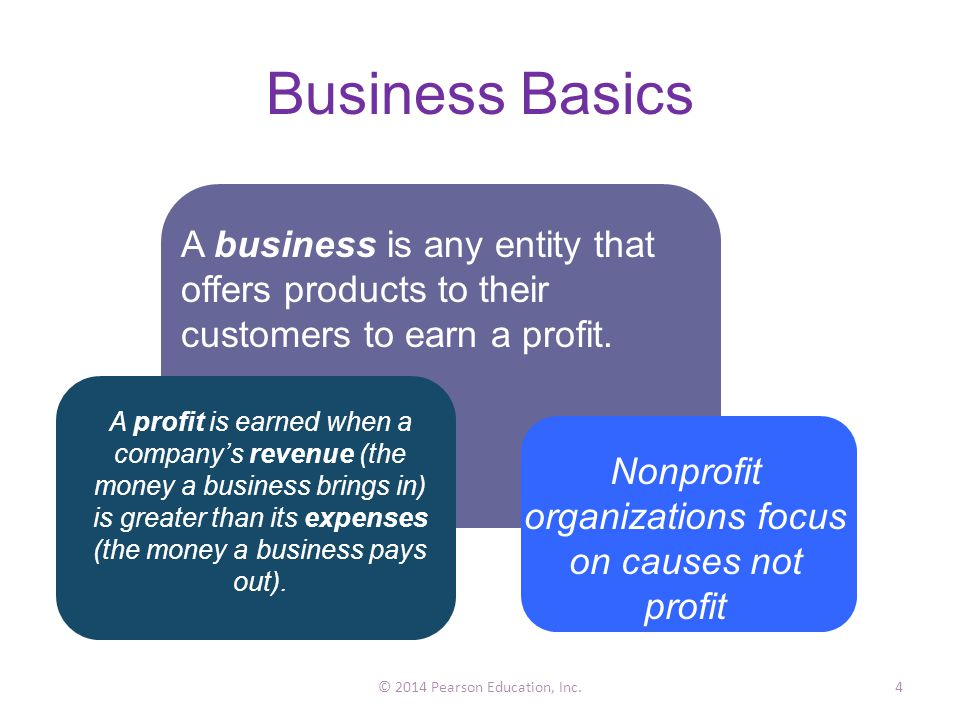 Business Basics A business is any entity that offers products to their customers to earn a profit.
