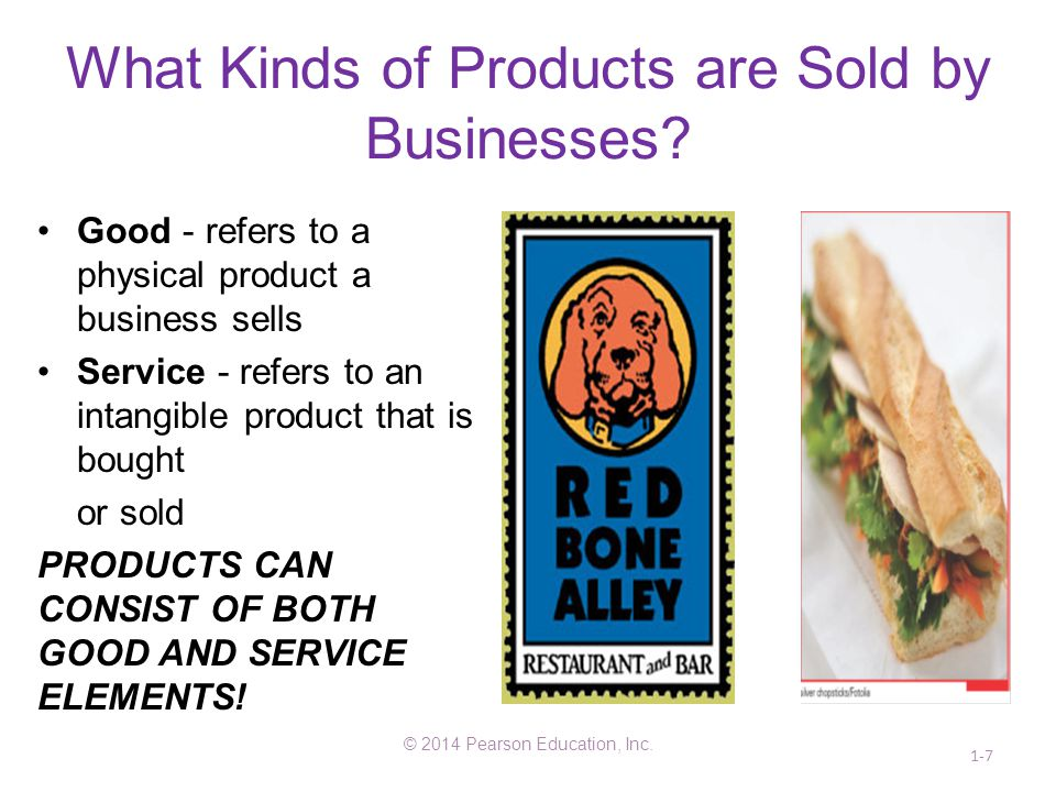 What Kinds of Products are Sold by Businesses