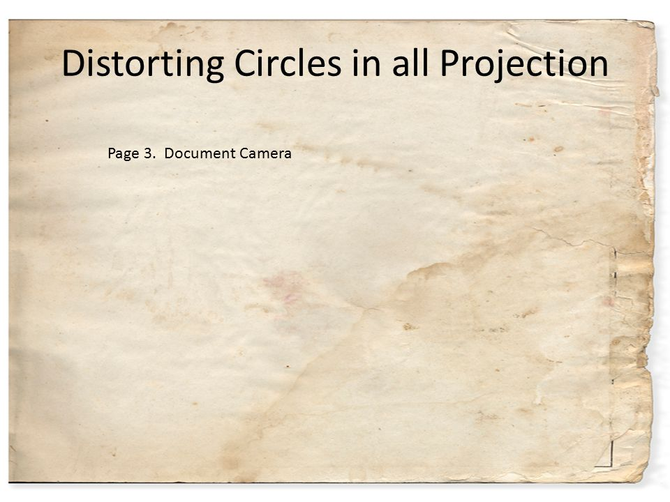 Distorting Circles in all Projection