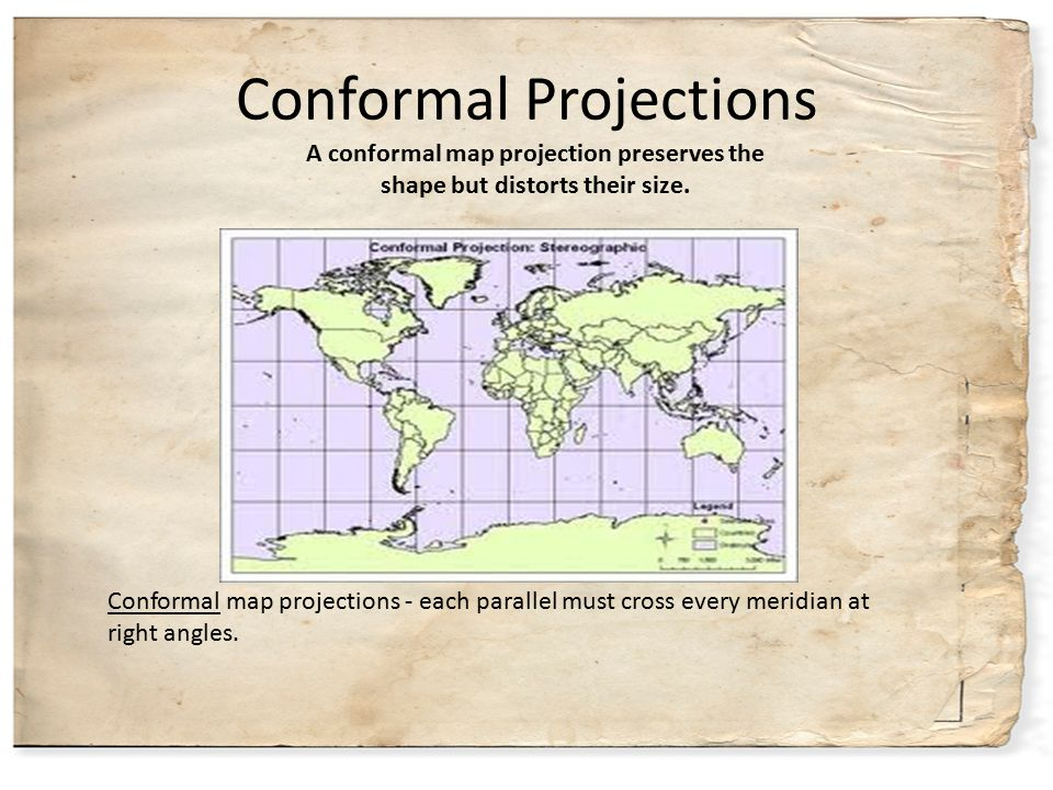 Conformal Projections