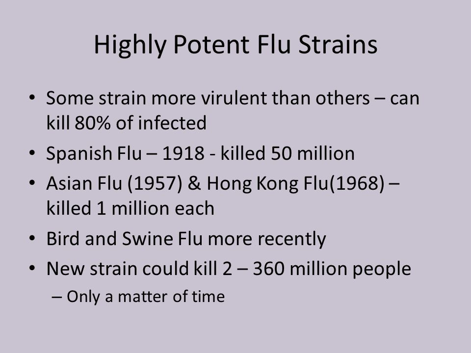 Highly Potent Flu Strains