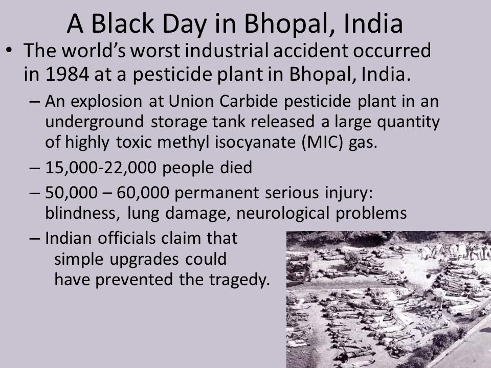 A Black Day in Bhopal, India