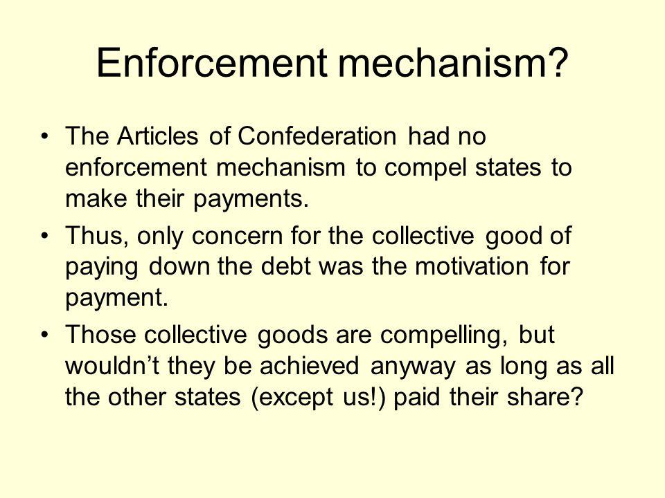 Enforcement mechanism