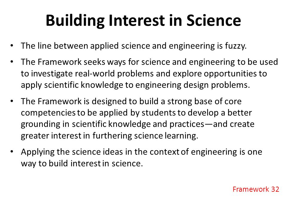 Building Interest in Science