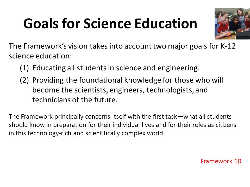 Goals for Science Education