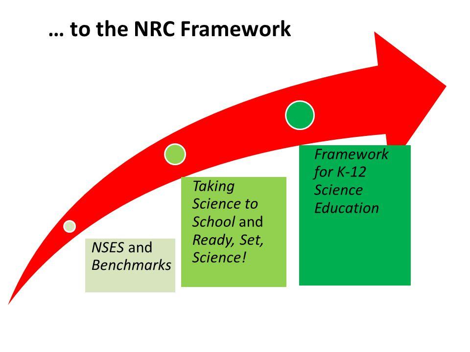 … to the NRC Framework Framework for K-12 Science Education